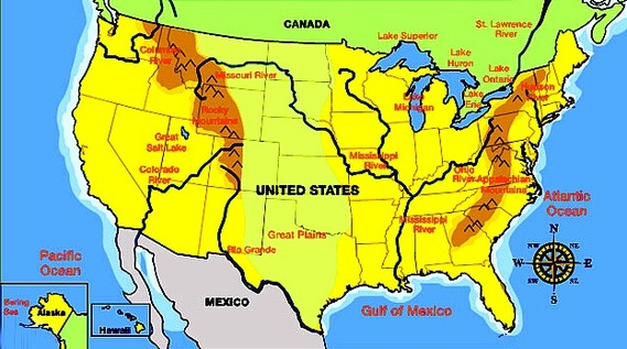 Mountains In The US Th Grade Landforms - Mountain ranges of the united states